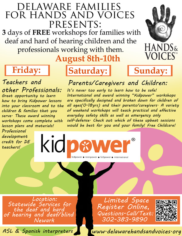 Register for our free August Kidpower Workshops today!